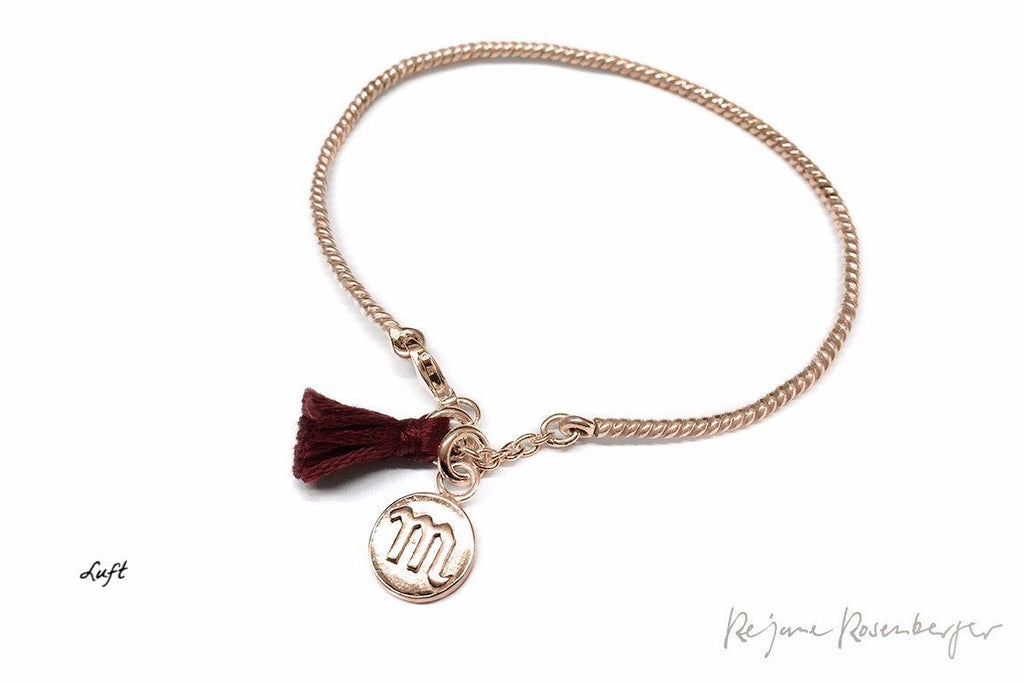 "Silberbangle ""Luck Chuck"" Luft 18K Rosé vergoldet"