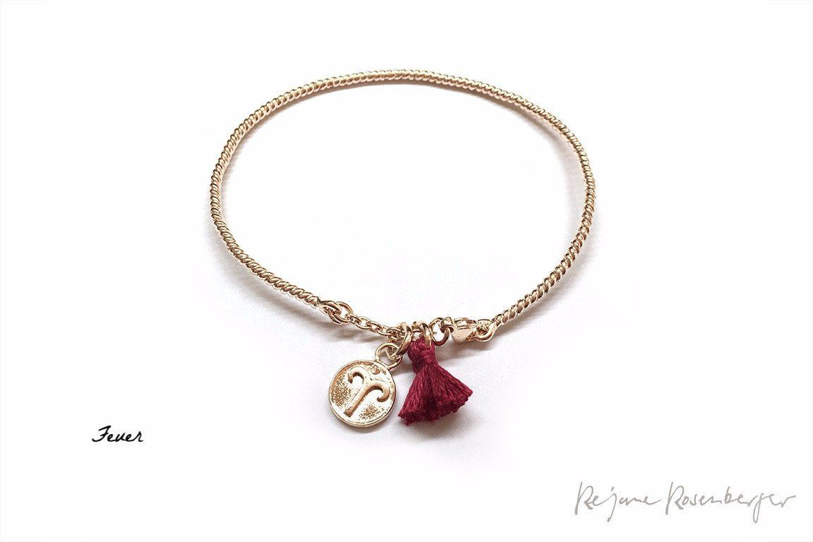 "Silberbangle ""Luck Chuck""  Feuer 18K Rosé vergoldet - Réjane Rosenberger Design"