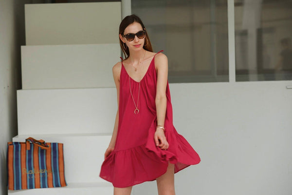9seed - St. Tropez Dress berry