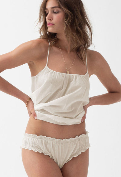 "LOUP CHARMANT ""Scoop"" Tank Top cream"