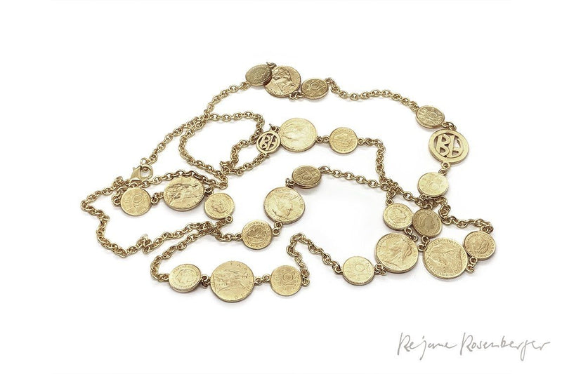 "BEN AMUN Messing-Kette ""Coin"" - Réjane Rosenberger Design"