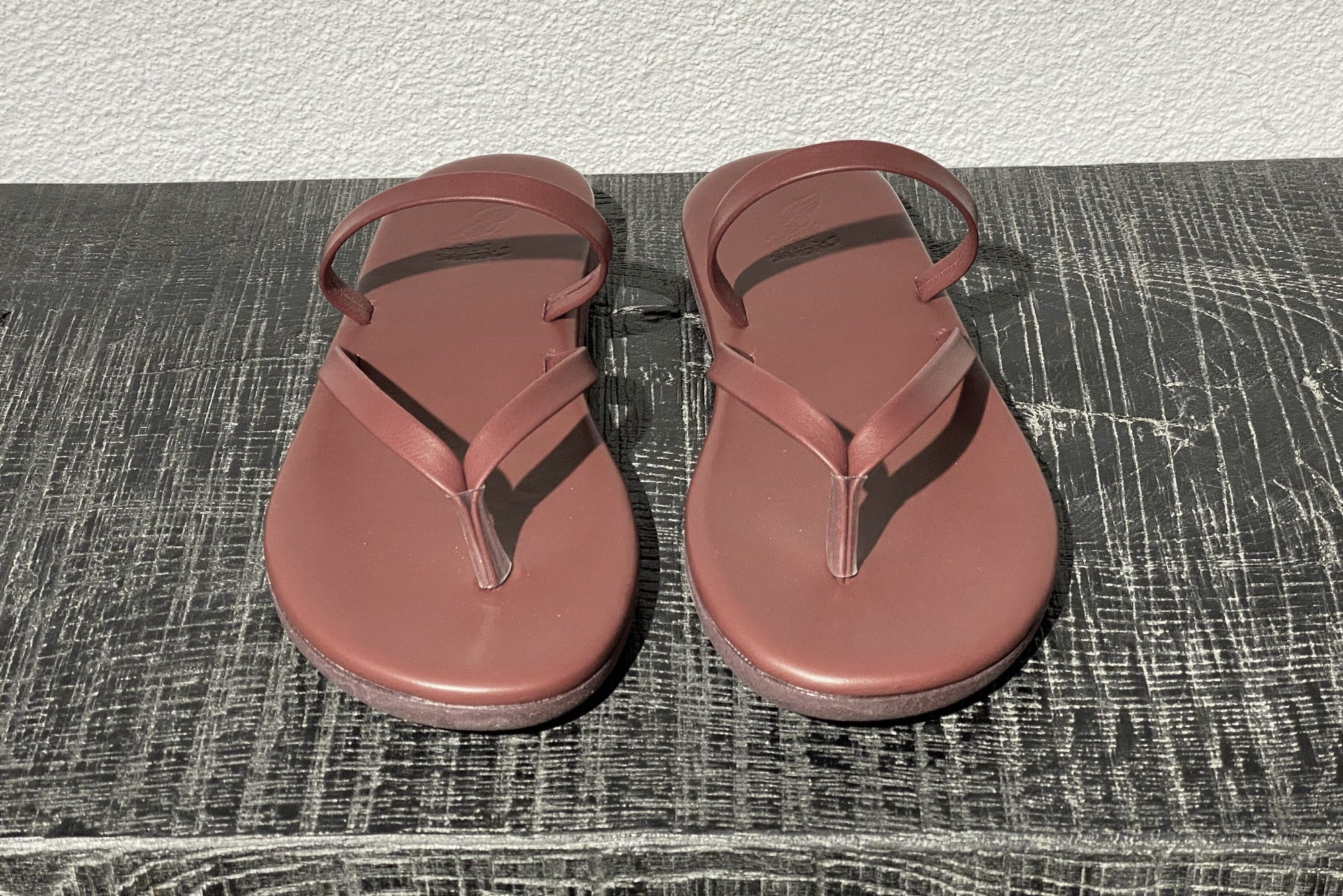"ANCIENT GREEK SANDALS  ""FlipFlop"" bordeaux"