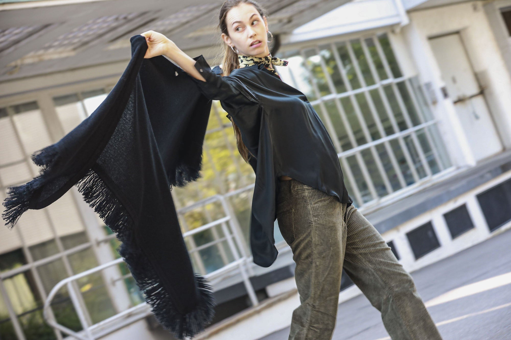 Choice by Réjane Rosenberger Cashmere Poncho black