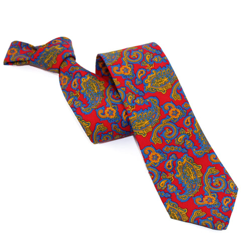 Corbata New Red Paisley
