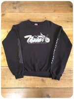 2001 Official U.S Harley Davidson Black V-Rod Sweatshirt Jumper XL