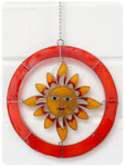 Boho Balinese Smiling Sunshine Sun Catcher Stained Glass
