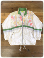 True Vintage 80s Ladies Cats Sportswear Shell Suit Top Jacket size 10-14