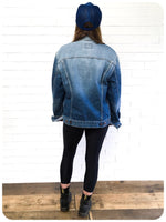 OVERSIZE VINTAGE RETRO 70s LEVI LEVIS 70500 04 BLUE DENIM TRUCKER JACKET