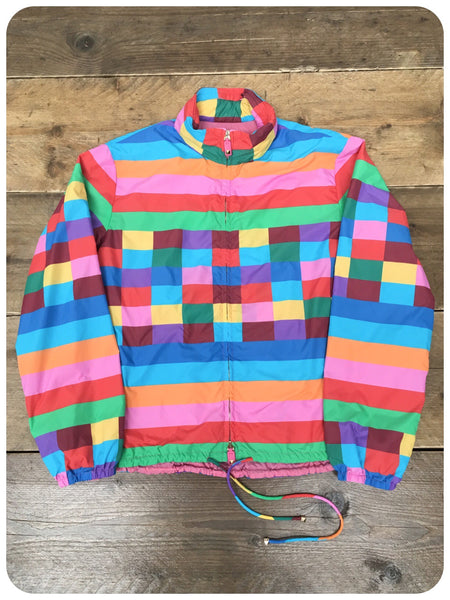 Retro 80s/90s Rave Windbreaker Shell Suit Top Jacket