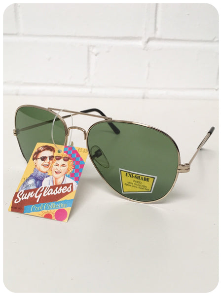 Classic True Vintage 80s Aviator Sunglasses Brand New Dead Stock UV400