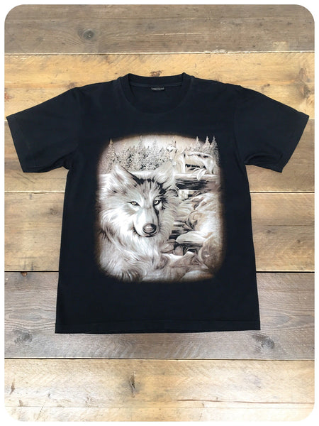 Retro 90s U.S. Wildlife Tee Wolf Pack T-Shirt