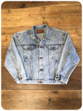 Vintage 80s Acid Wash Wrangler Denim Jacket 8-14