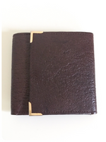 VINTAGE 1970's 80's BROWN GENUINE LEATHER TRI FOLD WALLET