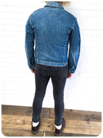 Y2K 00s Stone Washed Levi Red Tab Engineered Denim Trucker Jacket