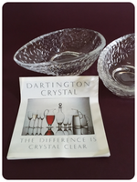 VINTAGE 1970's PAIR OF DARTINGTON CRYSTAL AVOCADO DISHES
