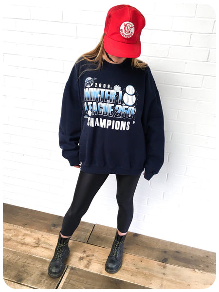 OVERSIZE 2009 U.S SOFTBALL SWEATSHIRT JUMPER