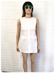 ORIGINAL VINTAGE 1960's MOD SCOOTER WHITE MINI SHIFT DRESS 10