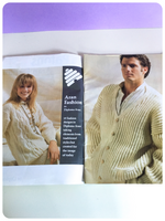 VINTAGE 1980's ORIGINAL PATONS BOOKLET 19 DESIGNS IN ARAN BOOK 269 KNITTING PATTERNS
