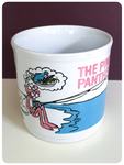 VINTAGE 1982 PINK PANTHER FISHING LOCH NESS MONSTER CUP MUG
