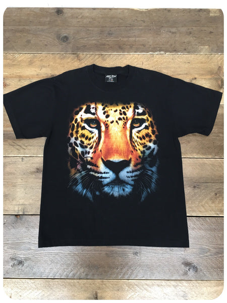 American vintage Retro 90s Wildlife Tiger Face Tee T-Shirt