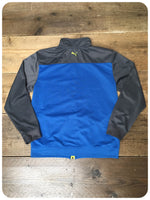 Women's Retro 70s Style Blue/Grey Puma Zip Up Track Tracky Top Jacket