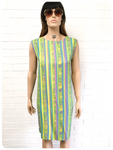 ORIGINAL VINTAGE 1960s MOD PSYCHEDELIC SUN SHIFT DRESS 16
