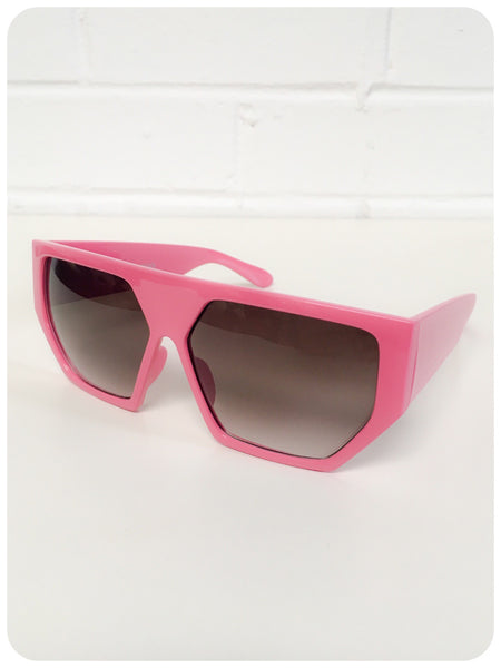Vintage 90s Oversize Bubble Gum Geometric Hexagon Indie Rave Grunge Sunglasses Dead Stock UV400