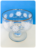 VINTAGE 1970's DEMA SET OF 4 FLORAL DAISY SUNDAE GLASS DISHES
