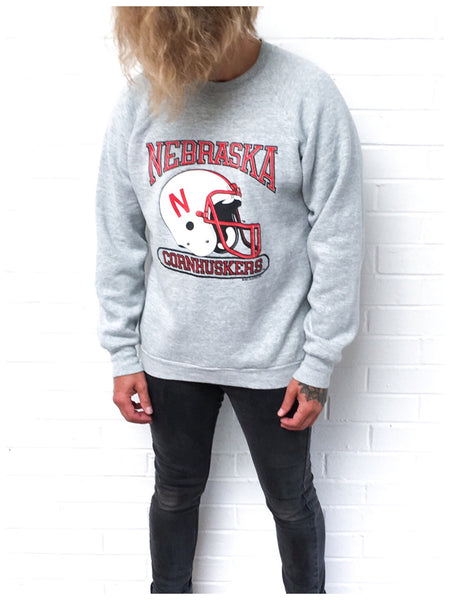True Vintage 80s U.S College Varsity Football Sweatshirt Sweat Jumper