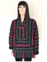 VINTAGE 90s MEXICAN BAJA JERGA SURF FESTIVAL OVERSIZED HOODIE TOP