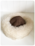 ORIGINAL VINTAGE 1960'S 1970'S SUPER FLUFFY SHEEPSKIN LEATHER HAT