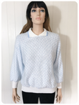 VINTAGE 1980'S QUIRKY CUTE SUPER SOFT FLUFFY COLLARED JUMPER UK 10-12