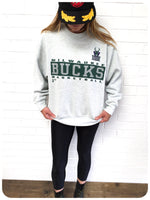 VINTAGE 90s U.S NBA BASKETBAL MILWAUKEE BUCKS SWEATSHIRT JUMPER SWEATER