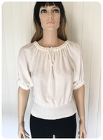 VINTAGE 1970's BOHO HIPPIE LACY FINE KNIT JUMPER UK 10-12