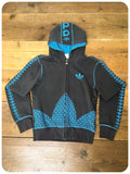 Retro Adidas Trefoil Zip Up Hoodie Track Tracky Top Jacket S
