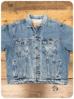 Vintage 80s Wrangler Denim Trucker Jacket M/L