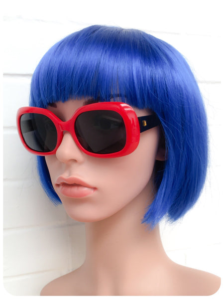 Vintage 1980s Brand New Deadstock Original Lipstick Red Revlon Branded Bug Eye Sunglasses