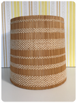 VINTAGE 1970's RETRO WICKER RATTAN CANE BAMBOO LIGHT LAMP SHADE BOHO