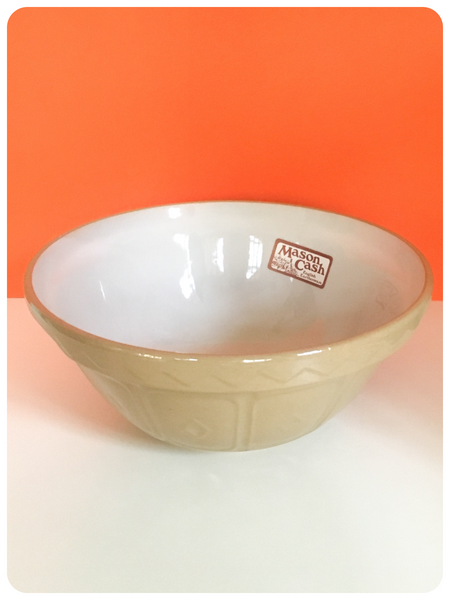 ORIGINAL VINTAGE 1970's MASON CASH CANE MIXING BOWL UNUSED 24cm