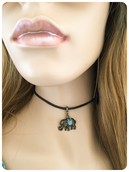 Hand Crafted Indian Elephant Choker Necklace
