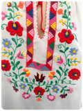 Vintage 1970s Floral Hand Embroidered Peasant Top