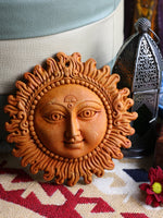 Indian Mellow Sun Terracotta Wall Plaque - Penny Bizarre - 2