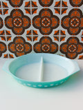 1960's Pyrex Snowflake Lidded Divided Cooking Serving Dish - Penny Bizarre - 3