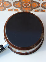 1970's Brown Floral Enamel Medium Saucepan - Penny Bizarre - 5