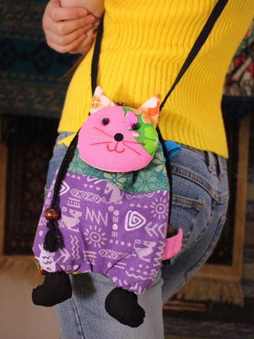 Hand Made Indian Patchwork Cat Bag - Penny Bizarre - 1