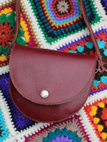 Vintage 70s Oxblood Leather Saddle Bag - Penny Bizarre - 3