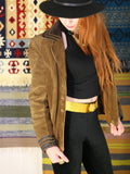 Vintage 1970s Tan Suede & Leather Jacket - Penny Bizarre - 4
