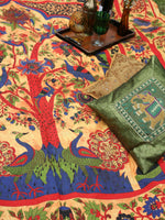 Indian Wall Hanging Double Throw Bedspread Tree of Life Peacocks - Penny Bizarre - 3