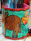 Nepalese Hand Painted Pen Holder - Penny Bizarre - 4