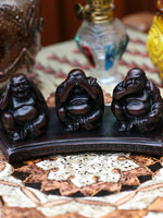 Resin Buddha Figures Hear See Speak No Evil - Penny Bizarre - 2